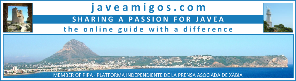 javeamigos.com | SHARING A PASSION FOR JAVEA | Click here to return to INDEX